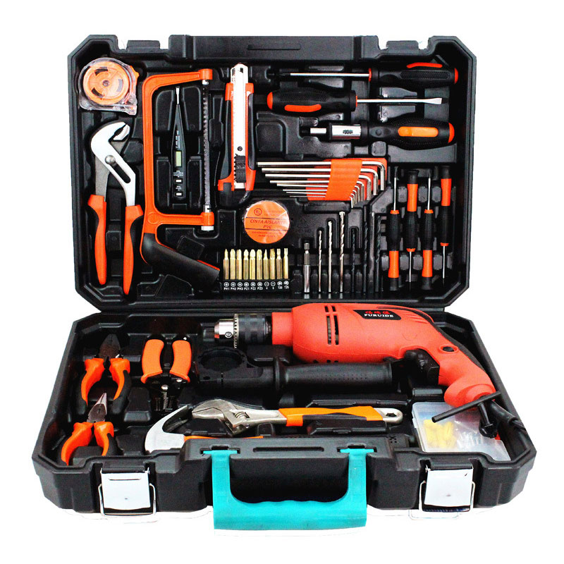 112pcs super deluxe edition electric drill tool set 13mm electric drilling machine household diy supply for woodworking urijk 1set best quality multifunctional electric drill impact drill household electric woodworking hardware hand tool sets