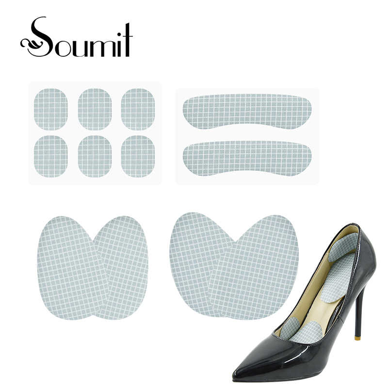 Soumit Female Strip Heel Stick Gel Shoes Sticker Grips Liners Cushion Inserts Forefoot Pad Against Pain Blisters 12 PCS