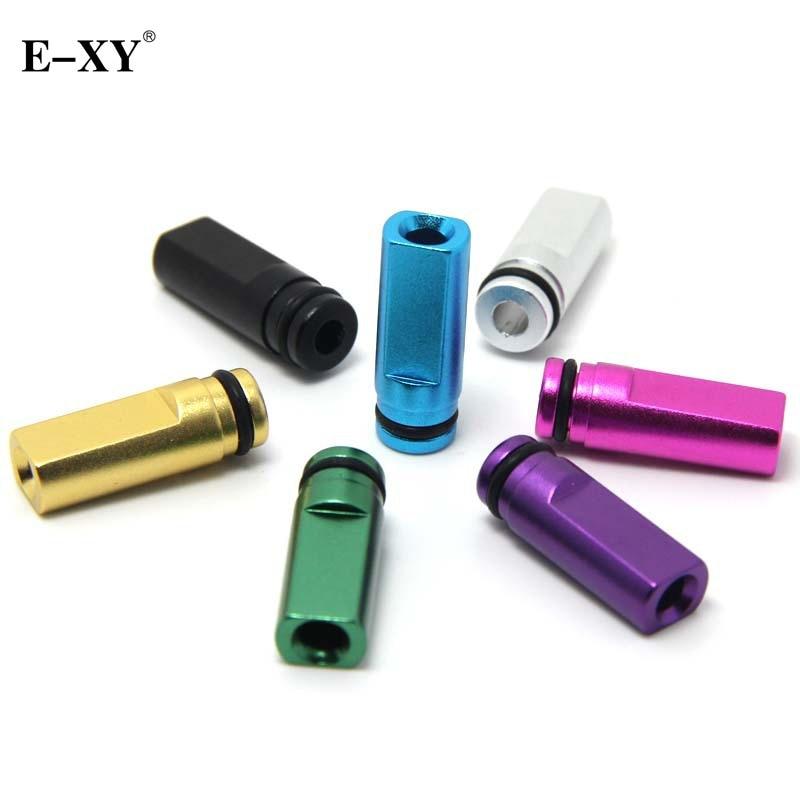 E XY Flat Metal Drip Tip 510 Mouthpiece For Electronic Cigarette 510 interface Atomizer font b