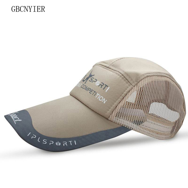 f5373a02313 GBCNYIER Dad Hats Big brim 11cm baseball cap long brim gorras breathable  mesh men sport hat