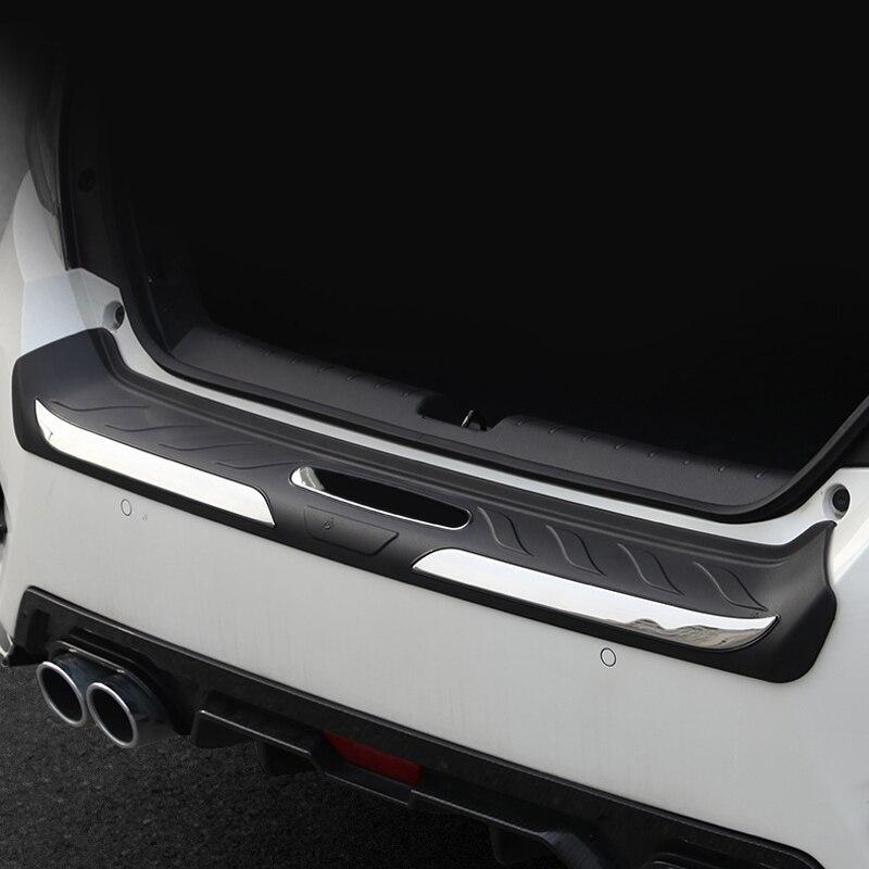 For Honda Civic 10th Gen 4dr Sedan 2016 2017 2018 2019 ABS Plastic Car Outer Rear Bumper Guard Plate Cover Trim 1 piece