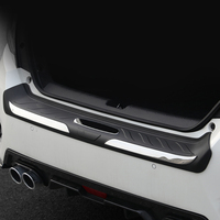 For Honda Civic 10th Gen 4dr Sedan 2016 2017 2018 2019 ABS Plastic Car Outer Rear Bumper Guard Plate Cover Trim 1 piece
