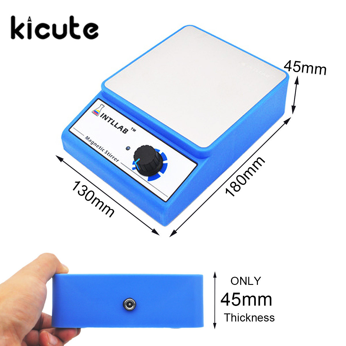 KiCute New Laboratory Chemistry Magnetic Stirrer Magnetic Stirrer Home Laboratory Magnetic Mixer Stirrers Apparatus AC100-240V brand new flatspin small magnetic stirrer thin laboratory mixer adjustable speed 15 1500 rpm