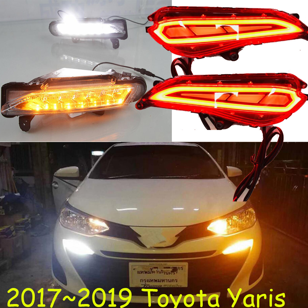 ATIV Yaris Taillight,2017 2018 2019,LED!yaris Daytime Light,ATIV Rear Light,Reflector,car Accessories,ATIV Fog Light,yaris