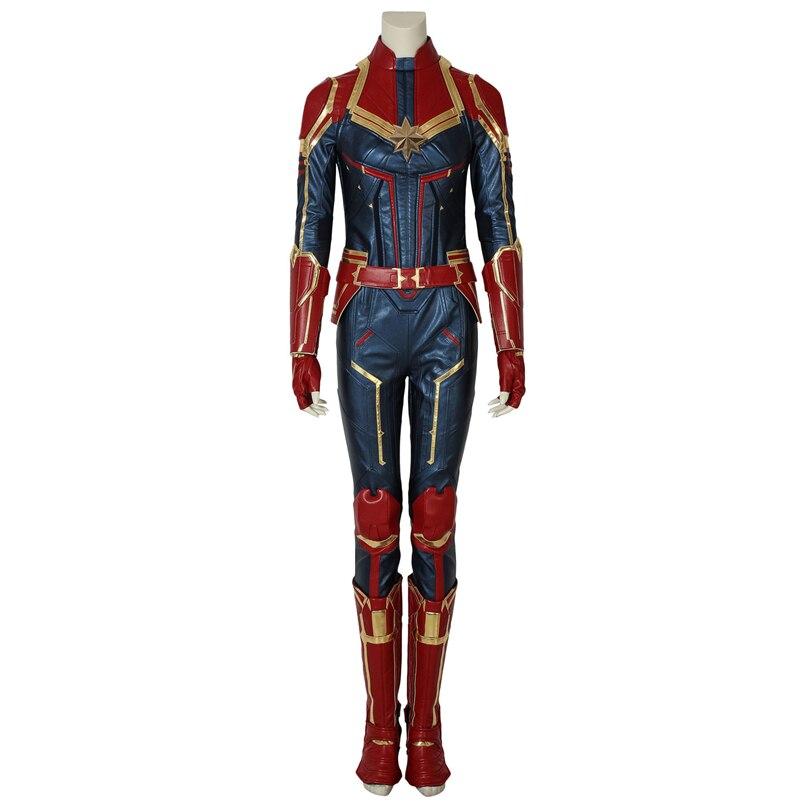 Capitan Marvel (film) Capitan Marvel Carol Danvers Cosplay Costumi di Scena Prestazioni Vestiti, Perfetto Su Misura per Te!