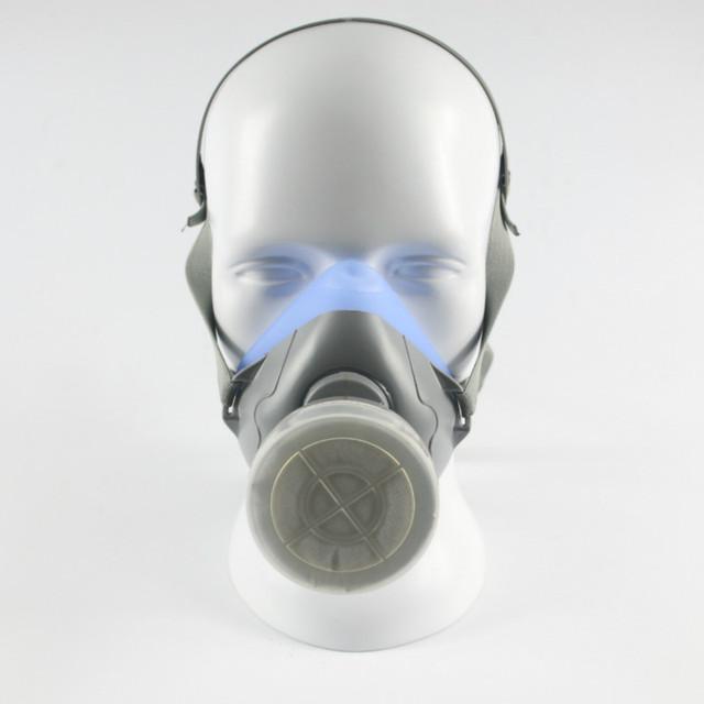 2016 nueva silicona máscara de gas máscara de seguridad para productos químicos pesticidas boxe de gas respirador máscara de gas
