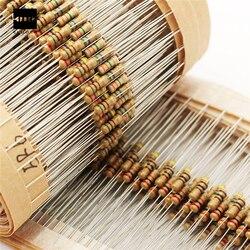 Nova elétrica 1500 pçs 1/4 w resistores de filme carbono kit sortido 75 valores (1 ohm ~ 10 m ohm) 5% 8x2mm filme carbono resistor conjunto