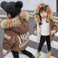 girls clothes boys cotton winter Children's thick fur collar coat girl winter clothes new years eve clothes 1 to 12 years old