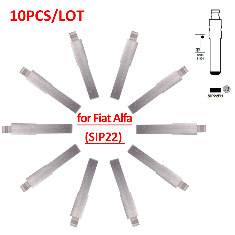 Güvenlik ve Koruma'ten Sensör ve Dedektör'de Ücretsiz kargo (10 adet/grup) Metal Boş Kesilmemiş Flip KD Uzaktan itmeli anahtar Tipi SIP22 Fiat için title=