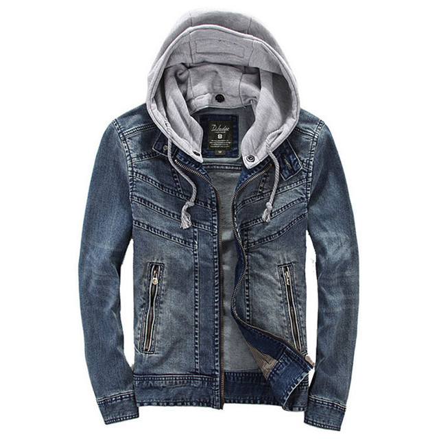 86710afd21b Denim Jacket Men Hooded High Quality Fashion Mens Jeans Jackets And Coats  Bomber Jacket Hoodies Cowboy Mens Plus Size XXXL