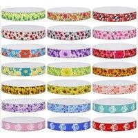 21 Choices Popular flower Printed Grosgrain Ribbon for Bow Craft Decoration DIY Hair Apparel 100Yards/lot