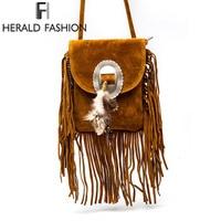 Women Pu Leather Bag Female Fashion Shoulder Bags Famous Brand Crossbody Bags Fringe Tassel Women Messenger