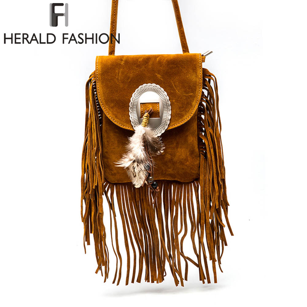 Women Pu Leather Bag Female Fashion Shoulder Bags Famous Brand Crossbody Bags Fringe Tassel Women Messenger Bags herald fashion feitong famous brand bags for women 2016 fashion floral pu leather shoulder crossbody bag satchel handbag messenger bag bolsos