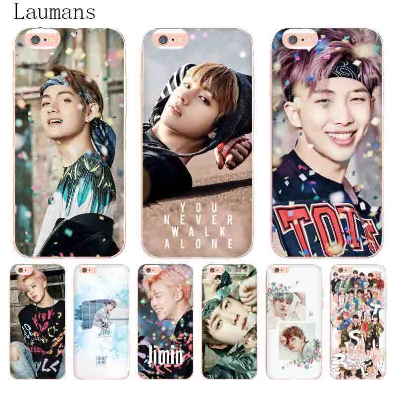 Laumans BTS V Jungkook Kpop Suga Bangtan Boys Korea Coque phone case for Apple iPhone 8 q50