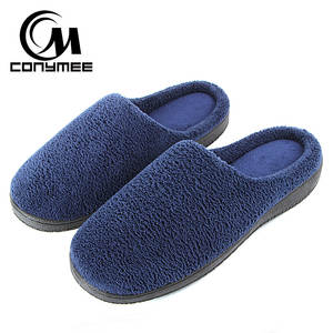 CONYMEE Shoes Home Slippers Winter Warm Indoor For Men