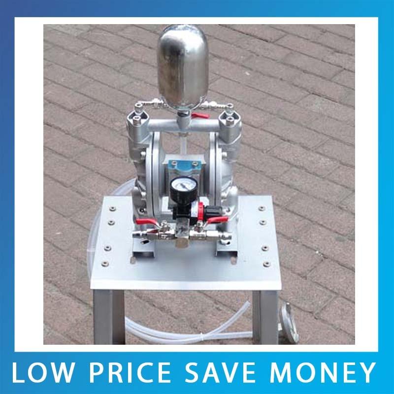 35L/min Pneumatic Double Diaphragm Aluminum Alloy Material Paint Pump Mini Ink Diaphragm Pump
