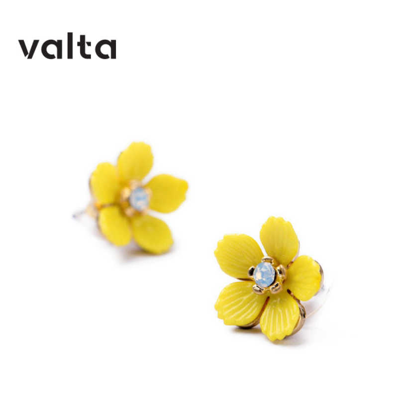 boucle d'oreille femme 2019 earrings for women fashion jewelry indian big big vintage earrings yellow Flower