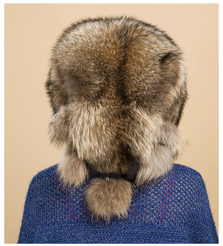 2019 new fur hat female winter prickly natural fur ear padded fashion wild outdoor berets Korean version of the tide
