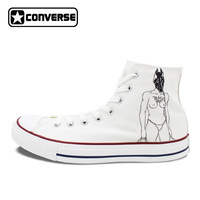Unisex High Top Converse Shoes Hand Painted Death Grips Shoes The Money Store Lyrics Painting All