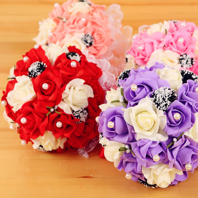 Korean Wedding Flowers: Happy Marriage Celebrate Festive Supplies Korean Wedding