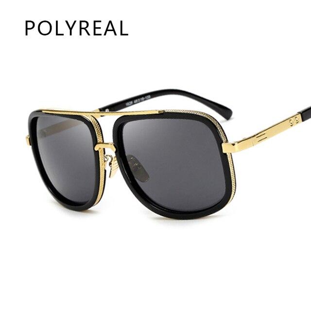 polyreal classique carr lunettes de soleil hommes 2017. Black Bedroom Furniture Sets. Home Design Ideas
