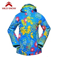New WILD SNOW Snow ski jacket Women Waterproof outdoor ski garment Ski women jacket Snow ski