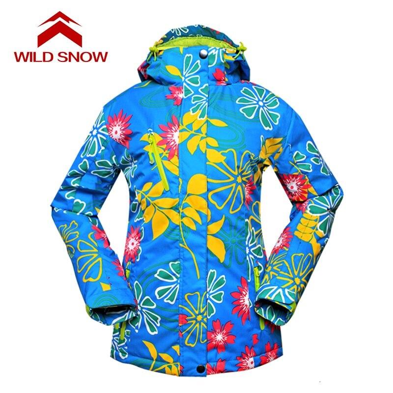 Nouvelle SAUVAGE NEIGE Neige ski veste Femmes Imperméable À L'eau en plein air vêtements de ski de Ski femmes veste De ski de Neige