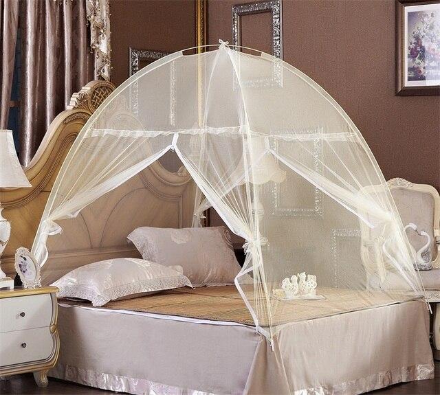 mongol yourte dentelle moustiquaire bon sommeil moustiquaire lit double avec fermeture clair double porte chaude olympiques - Moustiquaire De Lit