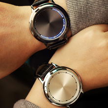 Creative LED Lovers Watch Men Women Personality Minimalist Leather Strap Ladies Watch Casual Fashion Digital Wristwatch Relojes
