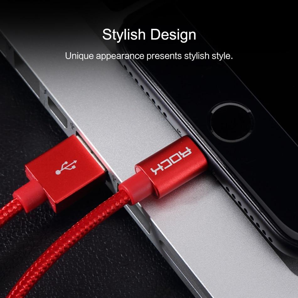 ROCK 2.4A Metal USB-kabel för iPhone 5 SE 6 6s 7 8 plus X XS XR XS - Reservdelar och tillbehör för mobiltelefoner - Foto 6