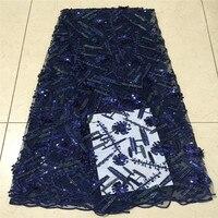 Высокое качество вышивка Африки Французский кружевной ткани 2018 французский тюль кружевной ткани с тяжелые камни из бисера в нигерийском ст