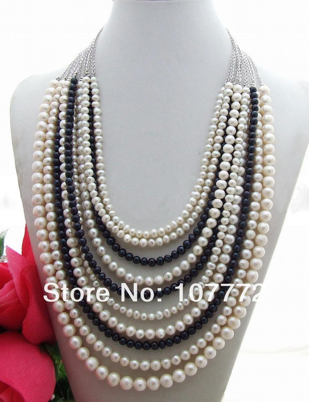 10 Strands Pearl Necklace10 Strands Pearl Necklace