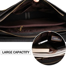 Leather Men Bag Casual Business Leather Mens Messenger Bag Vintage Men's Crossbody Bag bolsas male