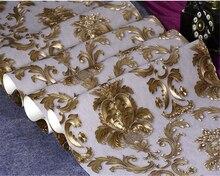 beibehang European style embossed 3d wallpaper Damascus luxury flowers waterproof bedroom living AB version vertical wall paper