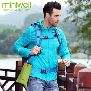 Survival Outdoor Camping & Hiking Portable Water Purification with bag Filtered Water On The Go 4