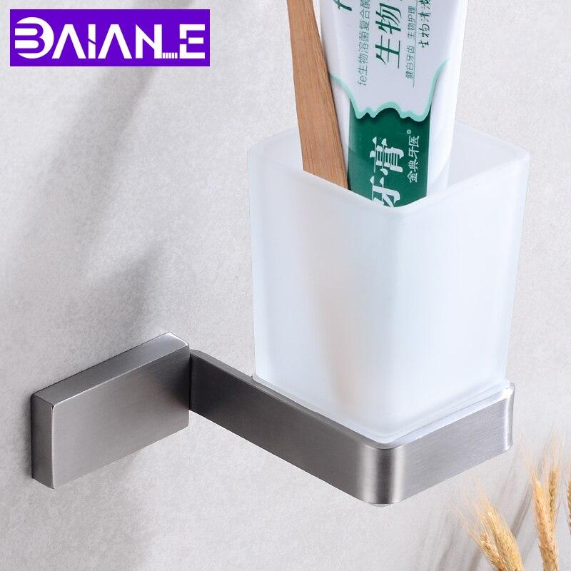 Toothbrush Holder Rack Stainless Steel Bathroom Wall Mount Hanger Holder Rack