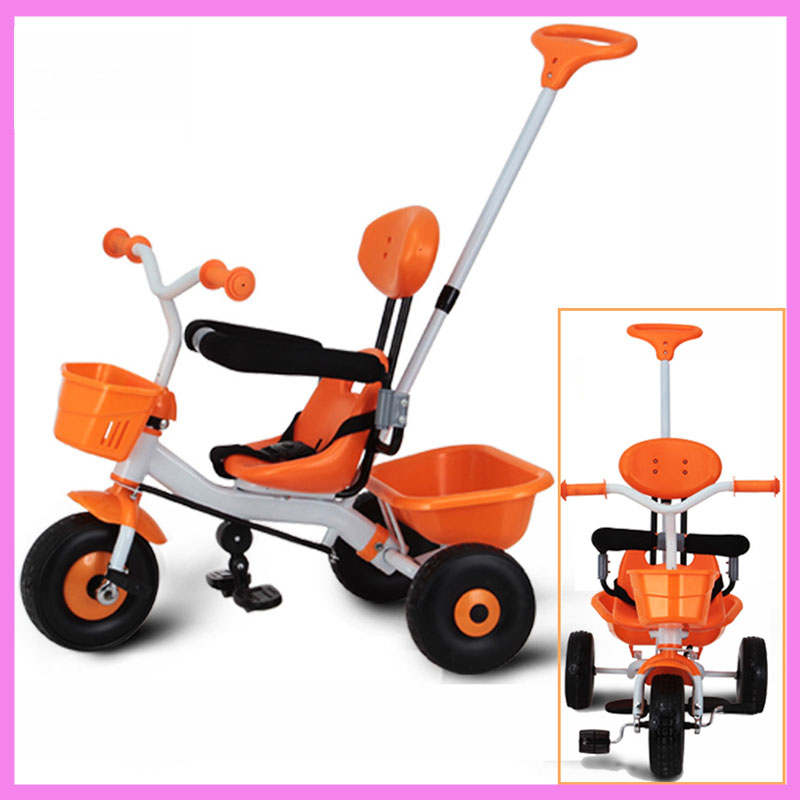 2 in 1 Baby Kids Tricycle Stroller Bike for Children Tricycle Pram Buggy Cart Bicycle Trolley 2 Y~6 Y children s bicycle kids balance bike ride on toys for kids four wheels child bicycle carbon steel bike for children 1 2 years
