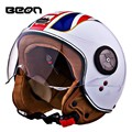 Brand Beon Motorcycle helmet,electric bicycle scooter Open face helmet,British flag vintage 3/4 capacete,ECE approved moto casco