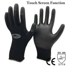 NMSafety Black Operating Machine Touch Screen Safety Work Gloves