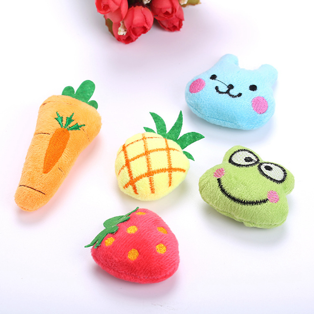 Mini Cute Creative Strawberry Pineapple Frog Rabbit Fish Shape Interactive Pet Kitten Toy Catnip Toy Pet Interactive Supplies in Cat Toys from Home Garden