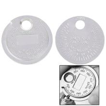 1 pièce outil de mesure de jauge d'écart de bougie 0.6-2.4mm gamme jauge de bougie calibre outils de mesure