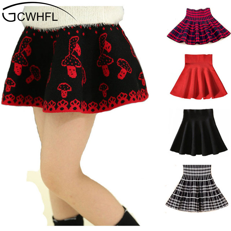 2018 New Spring And Autumn Children 4-14 Year Clothing Kids Girl's Ball Gown Casual Skirts Girls High Waist Tutu Skirt dabuwawa autumn winter new high waist plaid elegant skirt knee length slim fit formal skirt ladies pencil skirts d16csk003