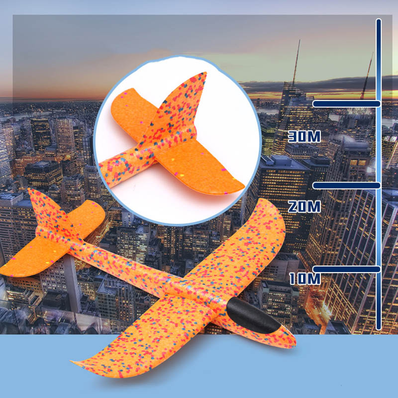 Children Toy Hand Throw Airplane Kid Outdoor Sport EPP Flying Glider Model Large Foam Aircraft Resistant Breakout Plane T0707 (8)