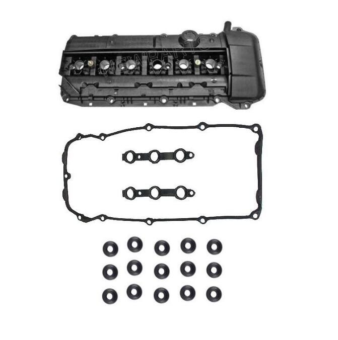Engine Valve Cover With Gasket Set & Grommets For BMW E46