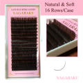 NAGARAKU 4 Trays  Set,16rows/case,brown color eyelash extension,Mink Eyebrow Extensions
