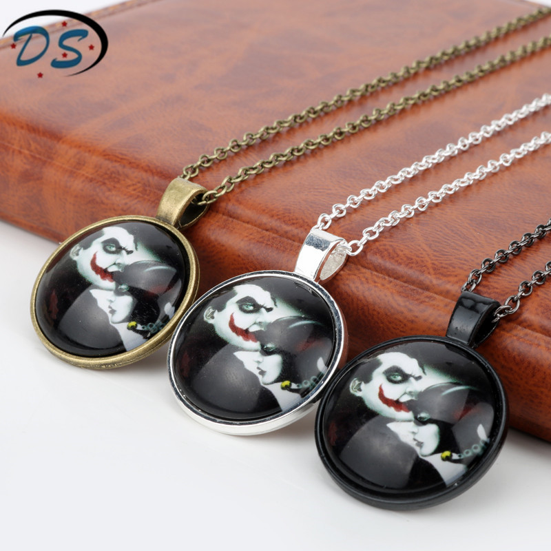 Suicide Squad Movie Jewelry Necklaces Joker Harley Quinn Link Chain Choker Necklace Pendants Charms Boys Girl Valentines Gifts
