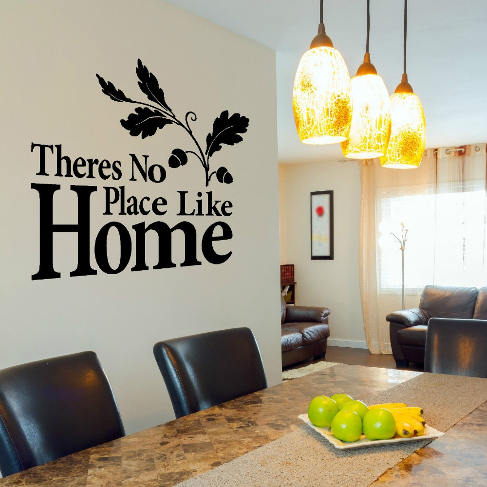 theres no place like home vinyl wall art sticker decal quote contemporary stickers cuisine. Black Bedroom Furniture Sets. Home Design Ideas