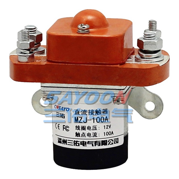 цена на SAYOON MZJ-100A DC 12V, contactor used for electric vehicles, engineering machinery and so on.