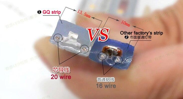 Սուպեր պայծառ 5050 LED շերտի շերտով110V- 120 - LED լուսավորություն - Լուսանկար 3