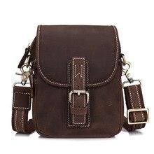 Luxus Vintage Kleine Echtem leder Mini Casual Bag männer Umhängetasche Hüfttasche Gürtel Schultertasche Hand-Made multi-funktionen